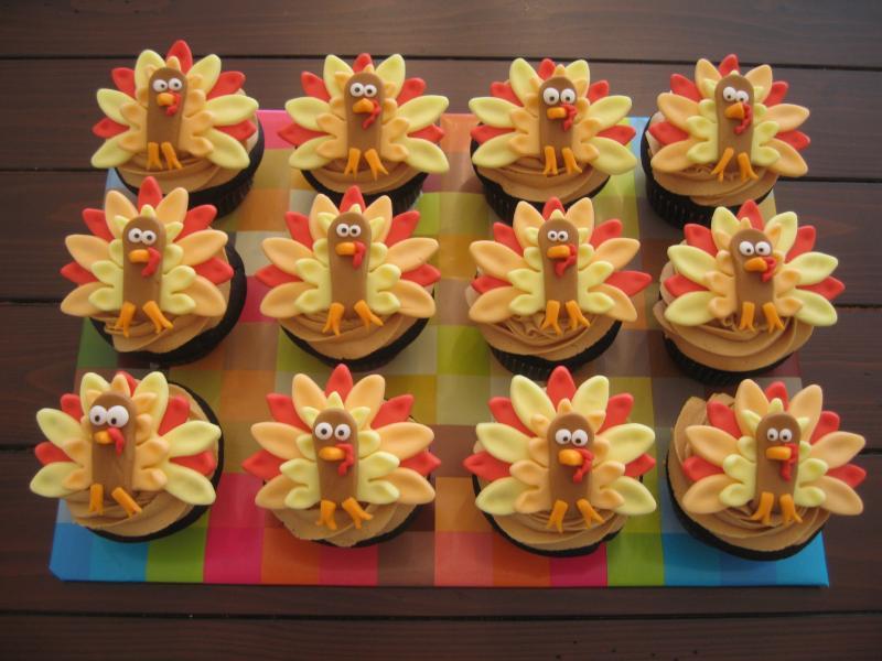 Cupcakes para thanksgiving day d a de acci n de gracias for Decoracion de mesa para accion de gracias