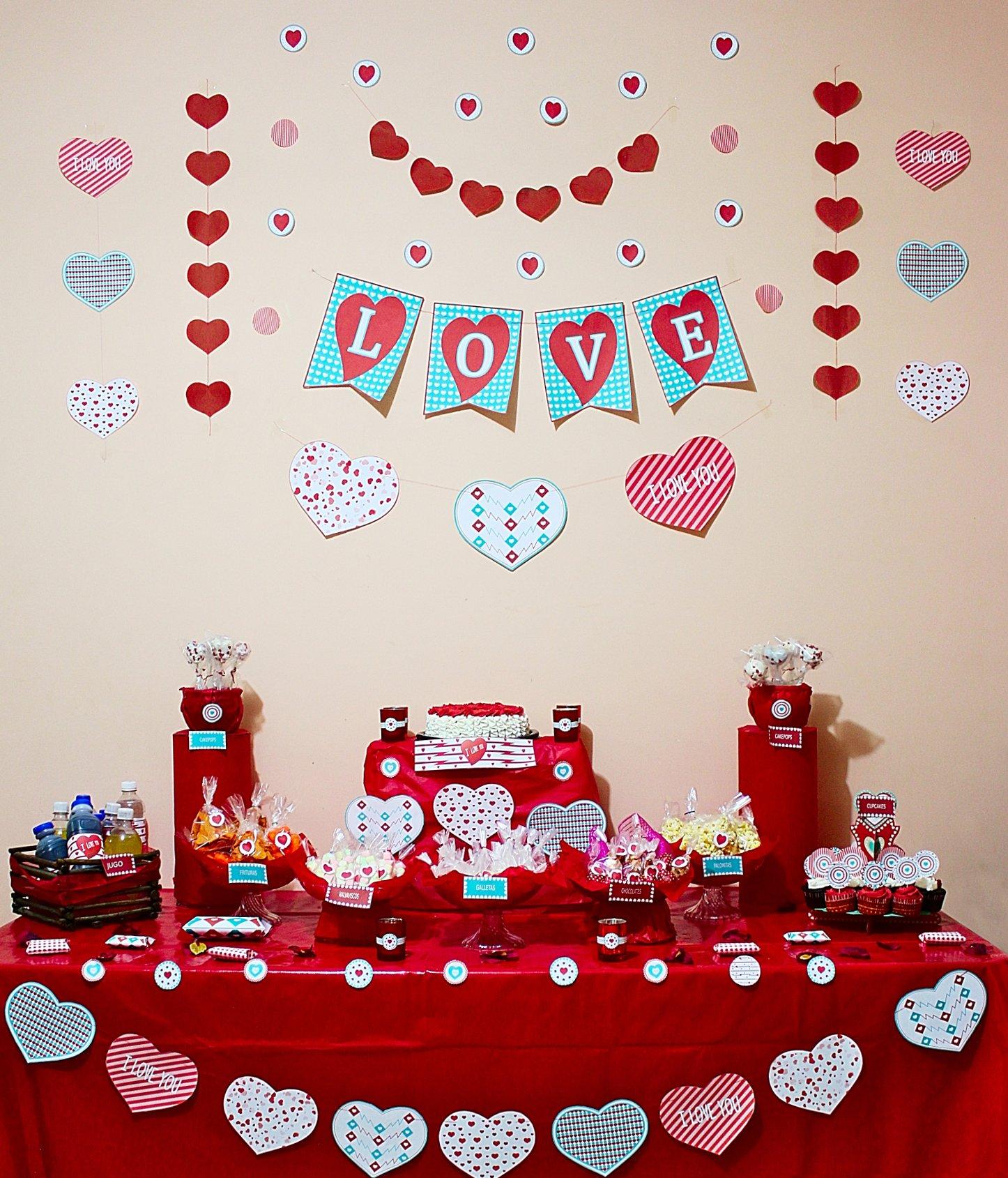 Set de Figuras Imprimibles para el Día de San Valentín - Pasteles D ...